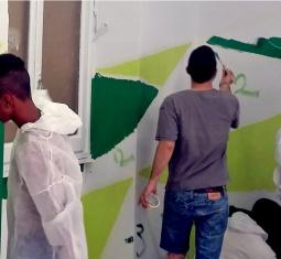 Mambretti a colori, gli ospiti dipingono il Centro